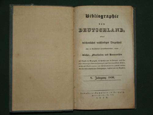 BIBLIOGRAPHIE von DEUTSCHLAND