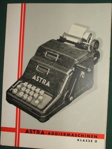 ASTRA- Addiermaschinen Klasse 0