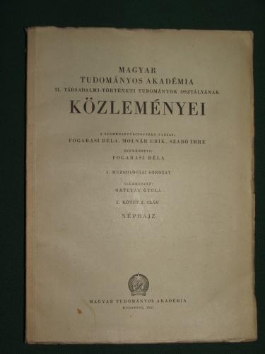 MTA II. Társadalom-történeti tudományok osztályának Közleményei