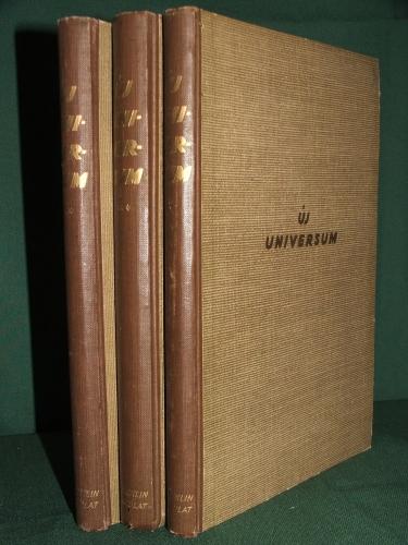 CAVALLIER József és FRAKNÓY József, vitéz: Új Universum 1-3 Kötet.