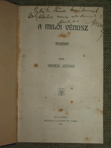HEVESI József: A Milói Vénusz