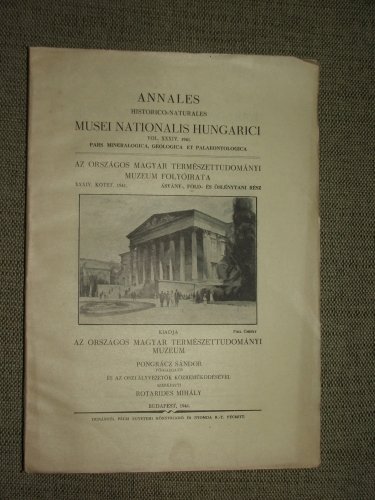 ANNALES HISTORICO-NATURALES MUSEI NATIONALIS HUNGARICI