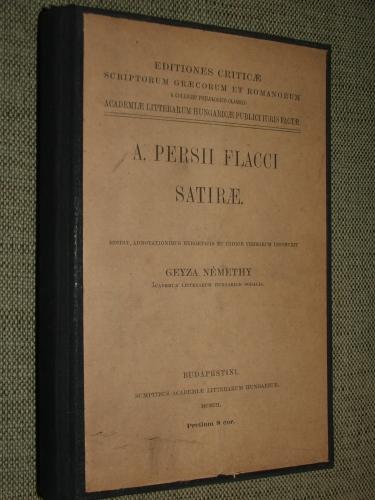 NÉMETHY, Geyza: A.(uli) Persii Flacci