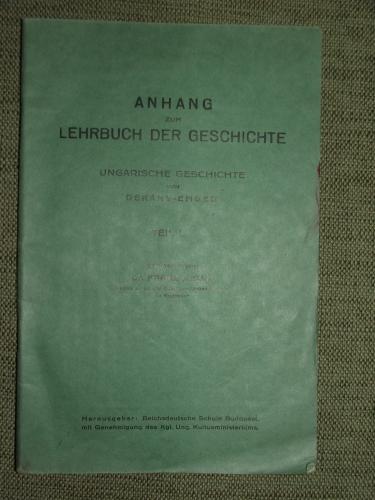 HELLE, Franz bearbeitet: Anhang zum Lehrbuch der Geschichte