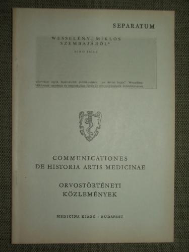 BÍRÓ Imre: Wesselényi Miklós szembajáról