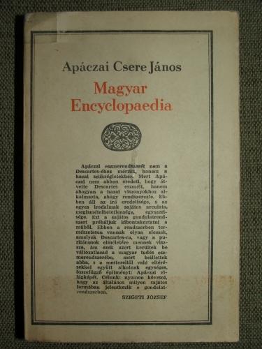 APÁCZAI CSERE János: Magyar Encyclopaedia