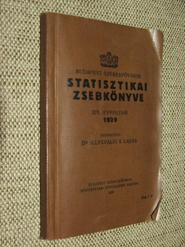 ILLYEFALVI I. Lajos: Budapest Székesfőváros statisztikai zsebkönyve