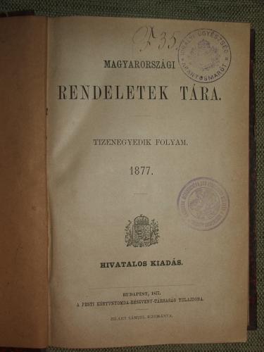 Magyarországi rendeletek tára