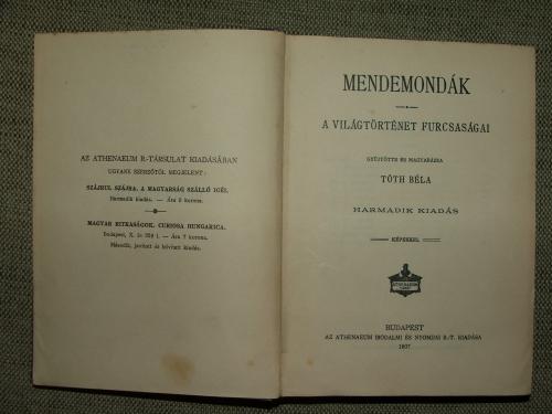 TÓTH Béla: Mendemondák