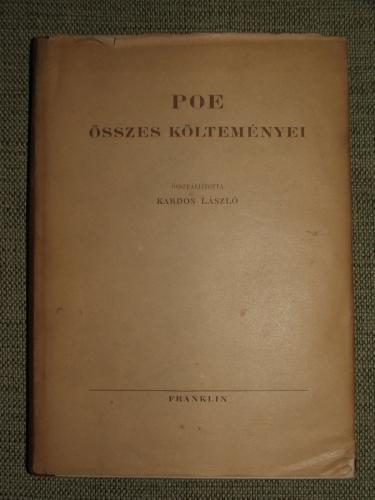 POE, Edgar Allan:  – – összes költeményei
