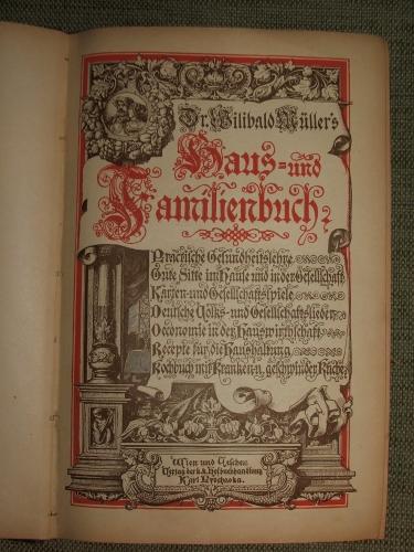 MÜLLER, Wilibald: Haus- und Familienbuch