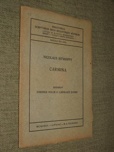 ISTVANFFY, Nicolaus: Carmina
