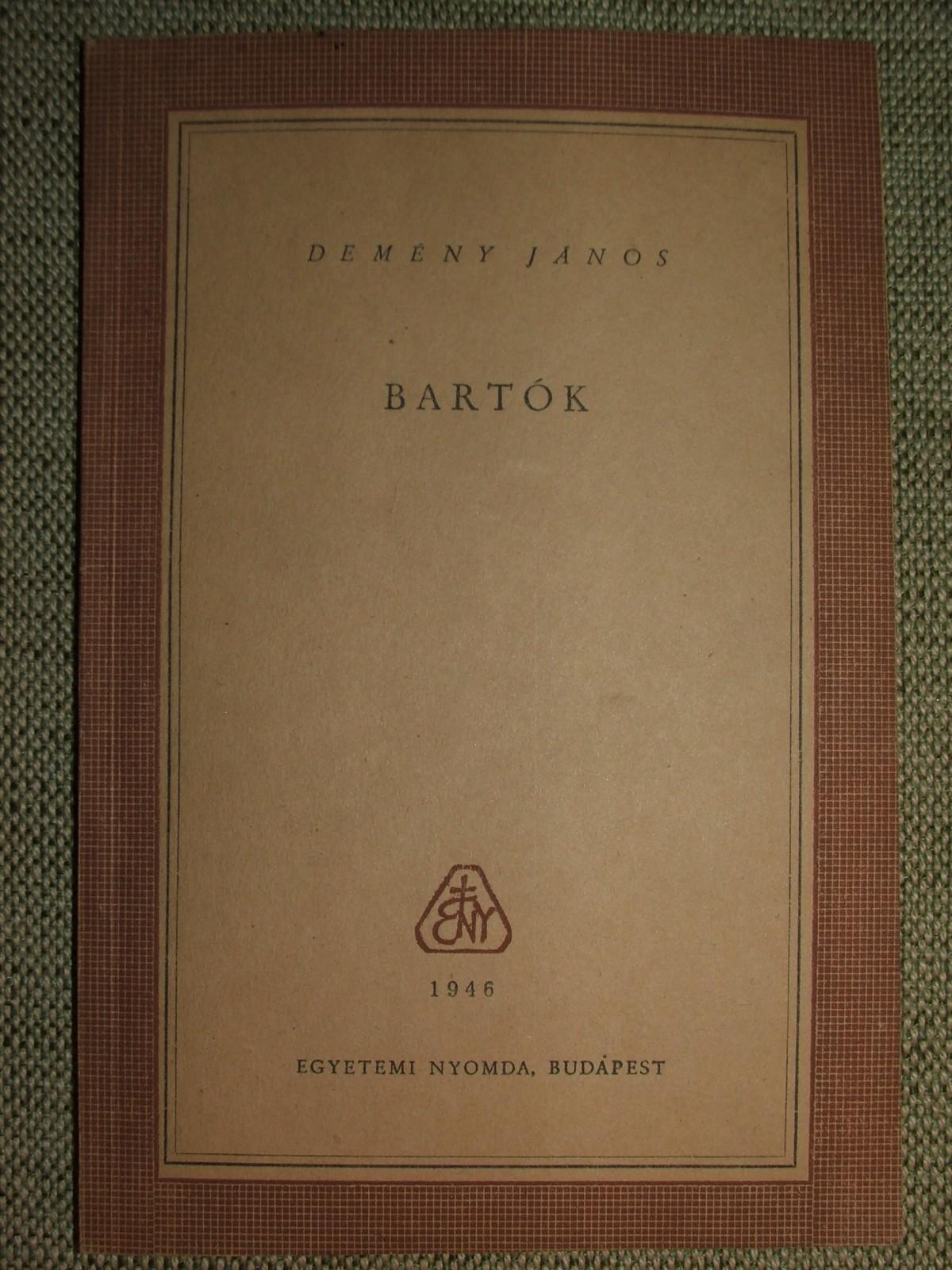 DEMÉNY János: Bartók