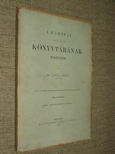 ÁBEL Jenő: A bártfai Sz.-Egyed temploma könyvtárának története.