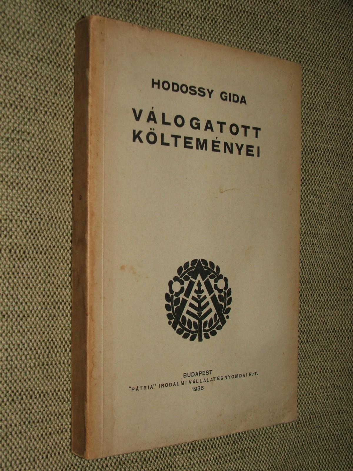 HODOSSY Gida: Válogatott költeményei