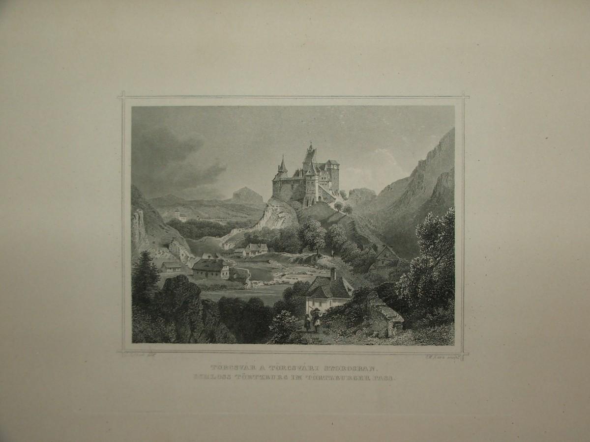 ROHBOCK – KURZ: Törcsvár a Törcsvári szorosban Schloss Törtzburg im Törtzburger Pass.