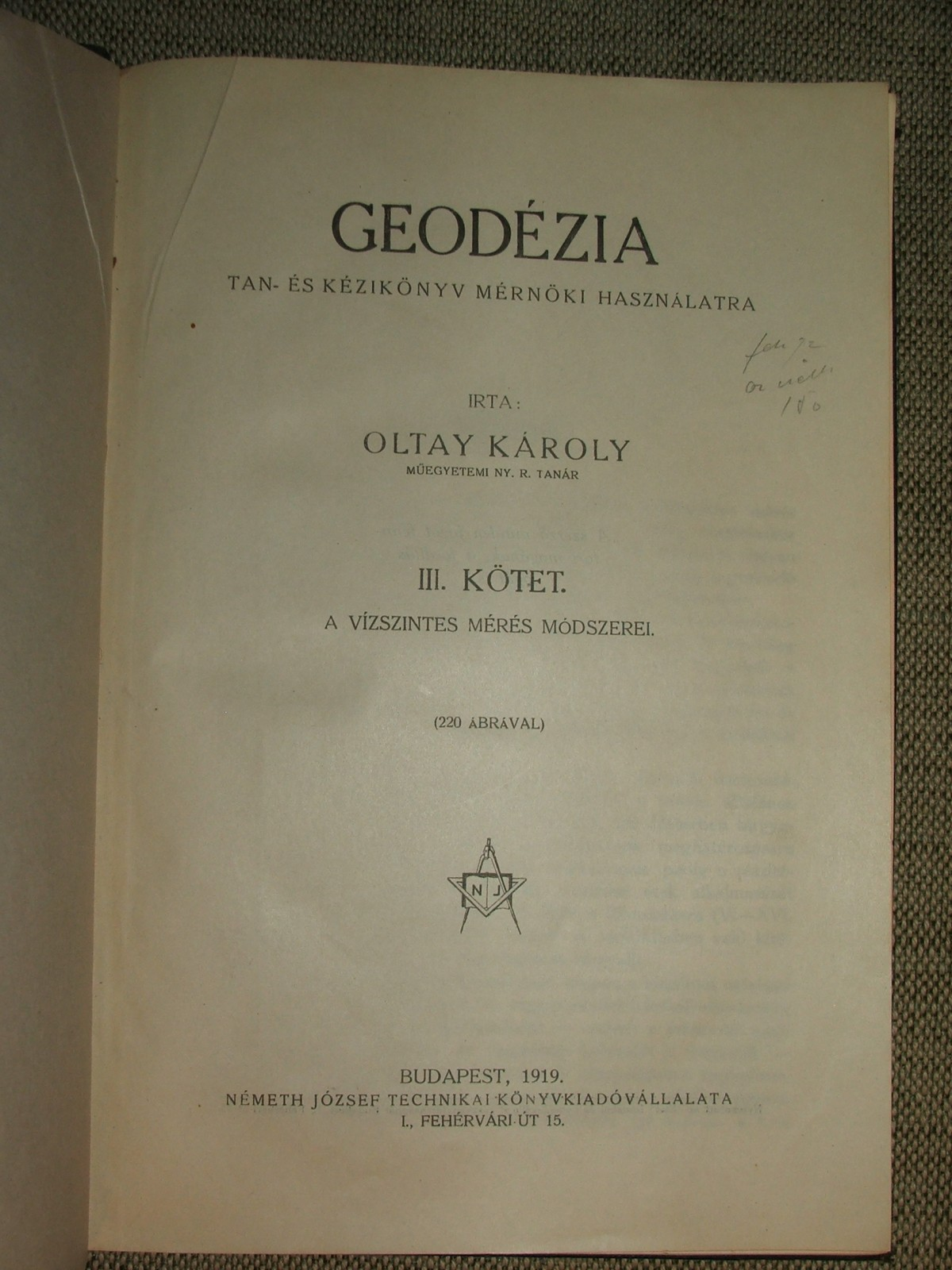 OLTAY Károly: Geodézia
