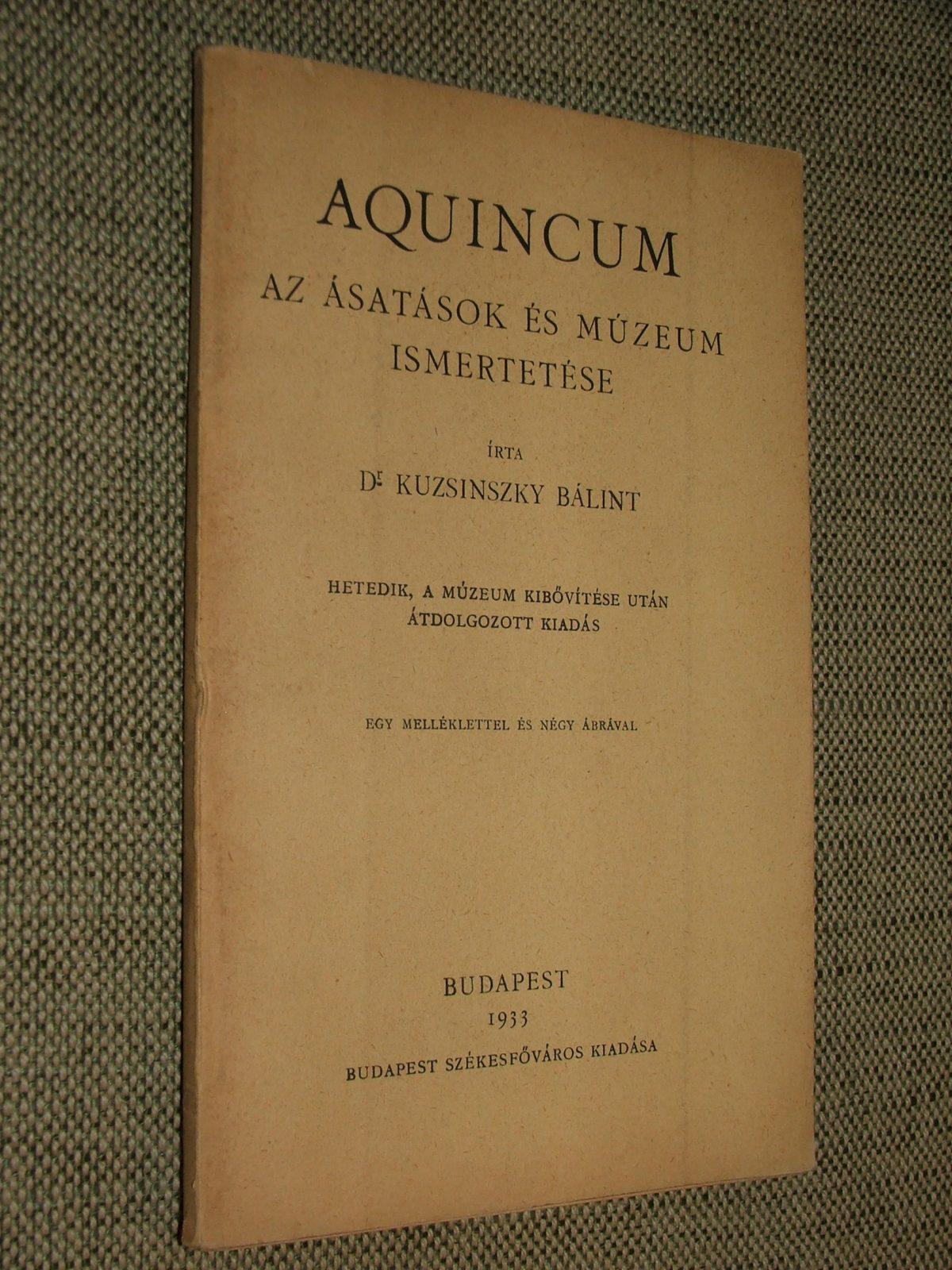 KUZSINSZKY Bálint: Aquincum