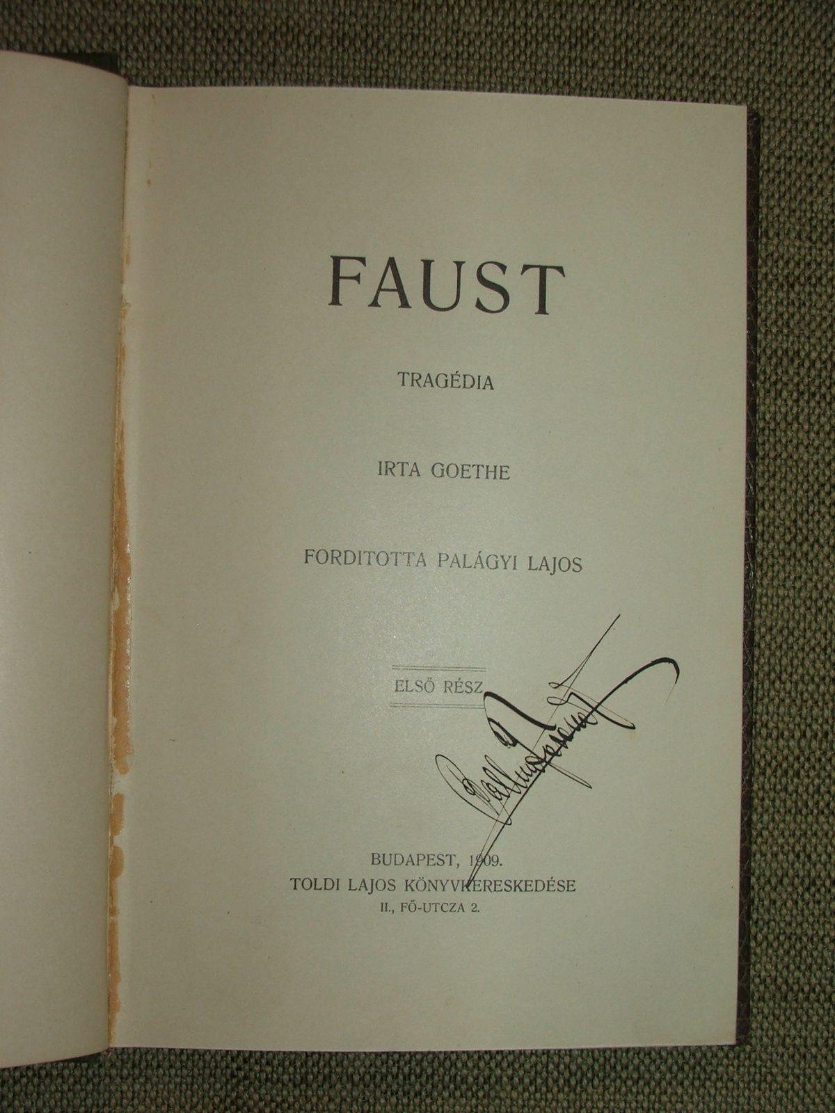 GOETHE, (Johann, Wolfgang): Faust