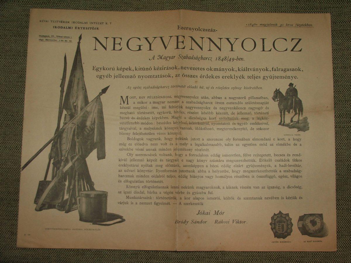 Révai Testvérek Irodalmi Intézet R.T. Irodalmi értesítője 1897. November 1-én 27.sz.