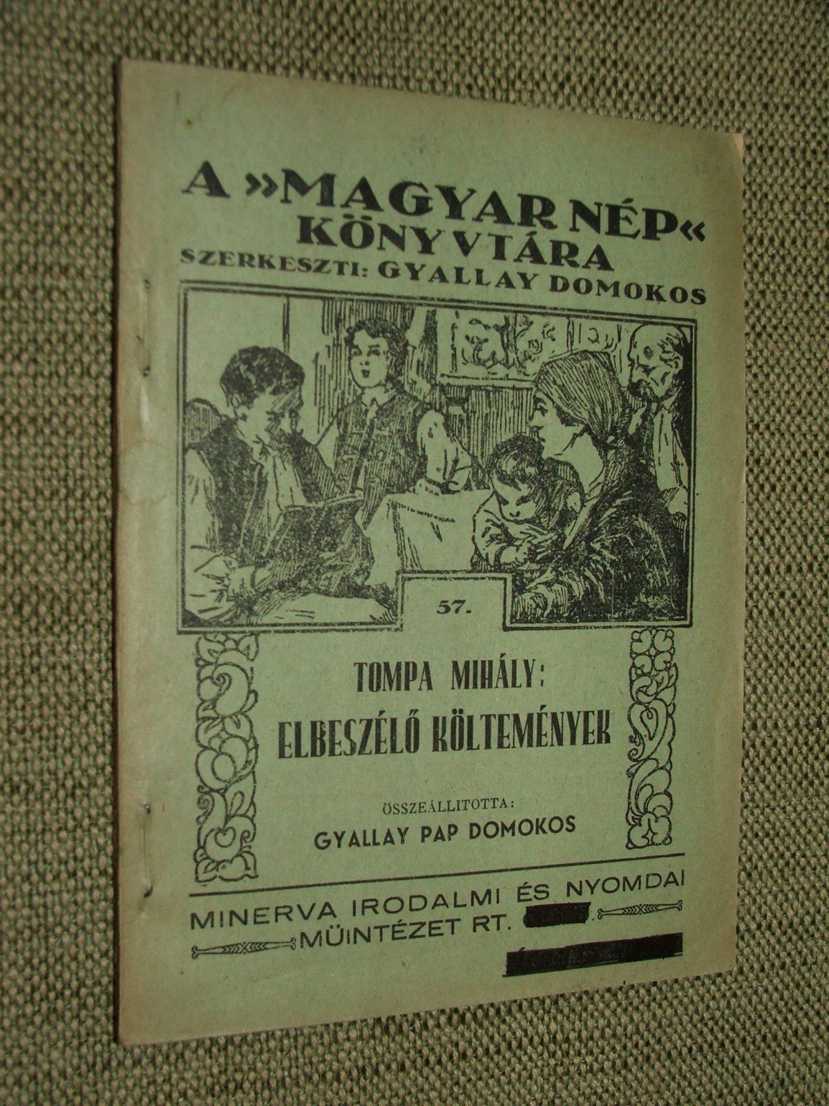 TOMPA Mihály: Elbeszélő költemények