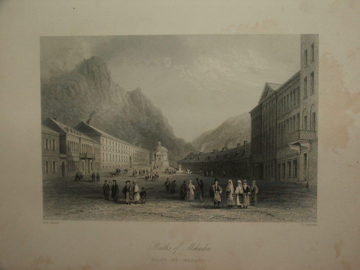 BARTLETT, W.H. – BENJAMIN, E.: Baths of Mehadia – Bains de Mehadia (Mehádia fürdő)