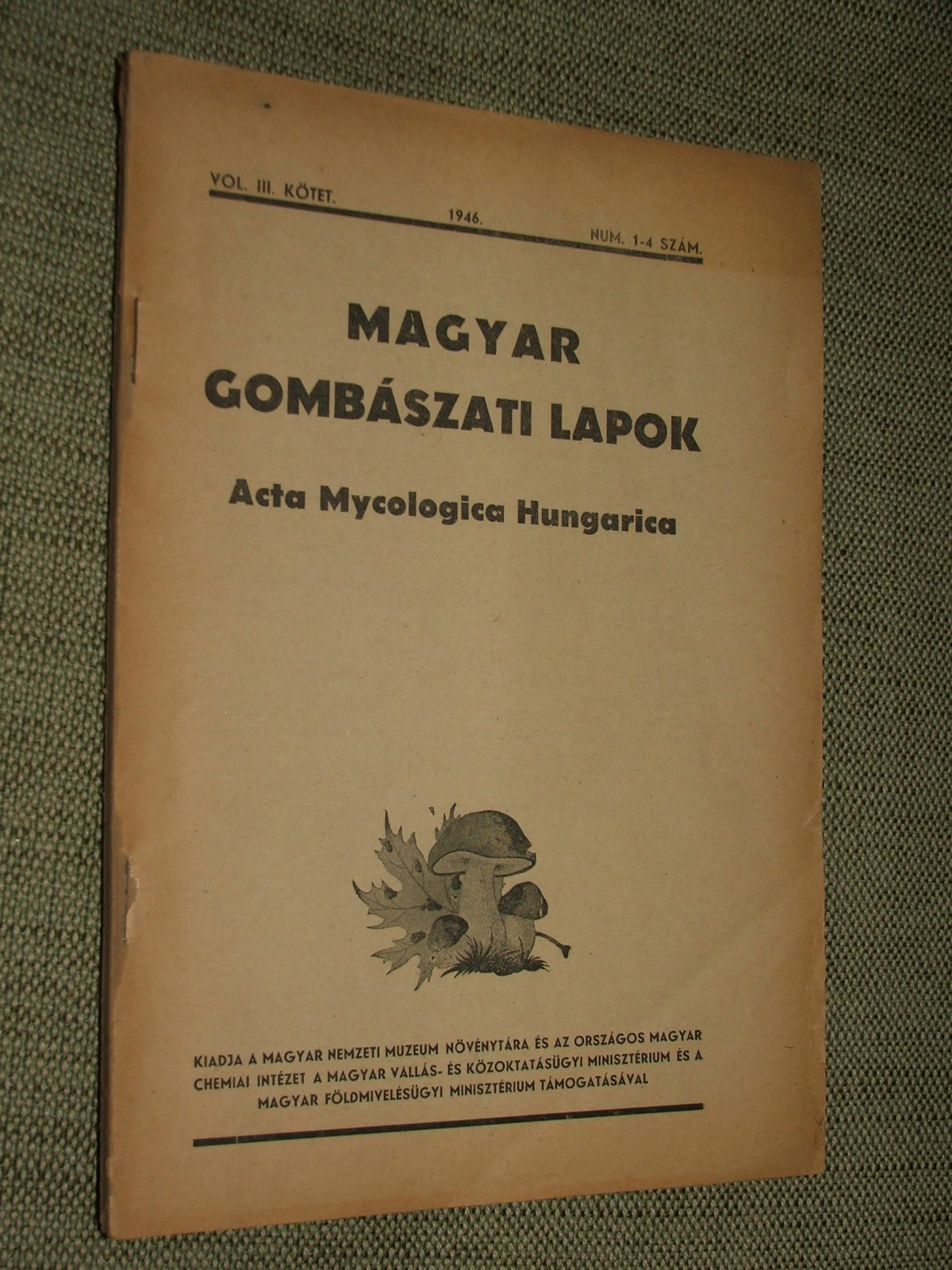 MAGYAR GOMBÁSZATI LAPOK